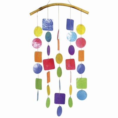 Capiz Chime Multi-Color
