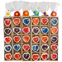 Candle Hearts in Tray