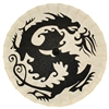 Parasol Dragon Black on Natural Paper