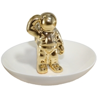 Saluting Astronaut Ring Tray