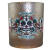 *Sugar Skull Candle Holder Mercury Glass
