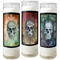 Sugar Skull Candle Jars with Story